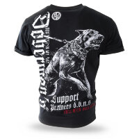 "Футболка ""DOBERMANS SUPPORT"" - black  (TS-220) DOBERMANS AGGRESSIVE"