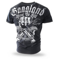 "Футболка ""GANGLAND"" - black  (TS-209) DOBERMANS AGGRESSIVE"
