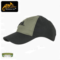 Бейсболка  с логотипом - PolyCotton Ripstop - (Black / Olive Green) - Helikon-Tex