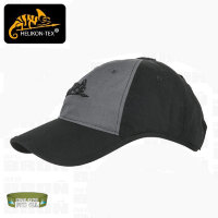 Бейсболка  с логотипом - PolyCotton Ripstop - (Black / Shadow Grey) - Helikon-Tex
