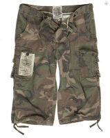 Шорты  AIR COMBAT 3/4-PANTS, Prewash, (Woodland) Mil-Tec